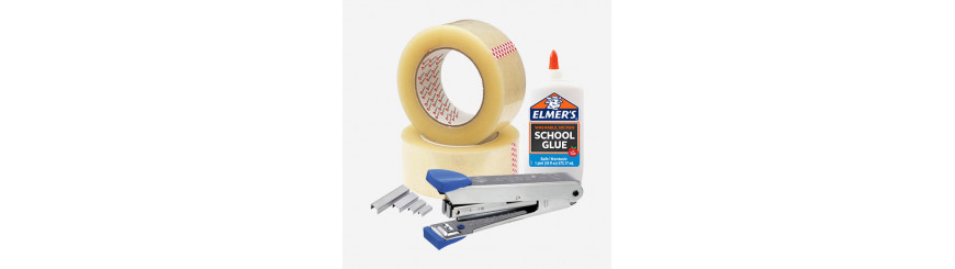 Adhasive Tapes, Glue, Staplers And Pins